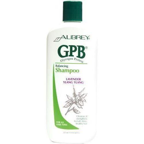 Glikogenowo - proteinowy szampon przywracający włosom równowagę o zapachu ylang ylang i lawendy 325ml marki Aubrey
