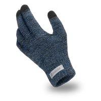 Granatowe męskie rękawiczki zimowe do ekranów pamami