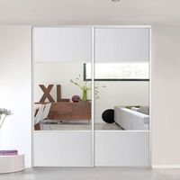 Form Drzwi przesuwne valla lustro 247 5 x 72 2 cm białe (3663602800606)