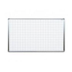 Tablica suchościeralna magnetyczna biała 170x100 cm z nadrukiem - kratka marki Allboards