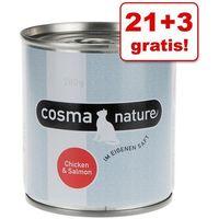 21 + 3 gratis! nature, 24 x 280 g - kurczak i szynka drobiowa| -5% rabat dla nowych klientów| darmowa dostawa od 89 zł i super promocje od zooplus! marki Cosma