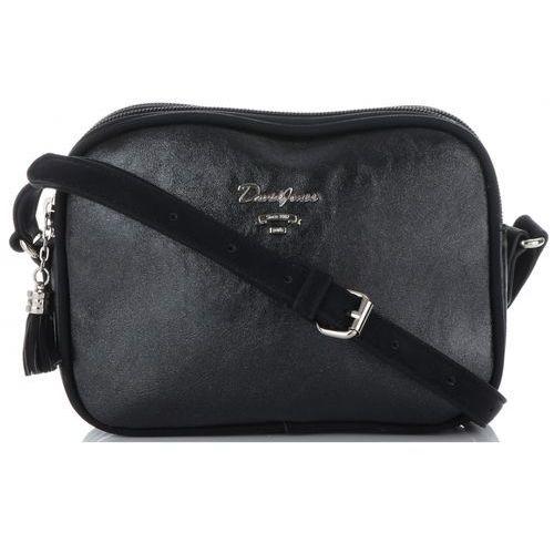 ddec3a5ba7b0b David jones Uniwersalne dwukomorowe torebki listonoszki firmy czarna  (kolory)