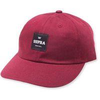 czapka z daszkiem SUPRA - Label Slider Hat Burgundy (609)