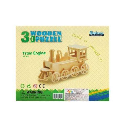 Puzzle drewniane 3D Lokomotywa Train Engine