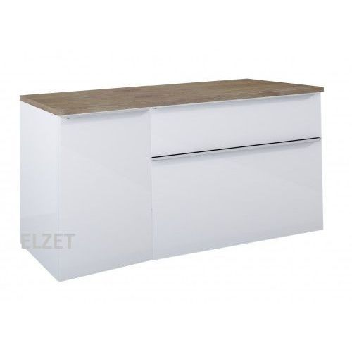 Szafka Lofty White Pod Umywalkę Nablatową Komoda Z Koszem Cargo Blat 140 Dąb Classic 167027167029167043 Elita