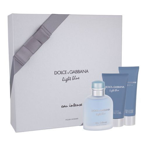 Dolce&Gabbana Light Blue Eau Intense Pour Homme zestaw Edp 100 ml + Żel pod prysznic 50 ml + Balsam po goleniu 75 ml dla mężczyzn