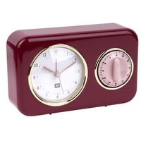Zegar stojący NOSTALGIA red z timerem kuchennym by pt,