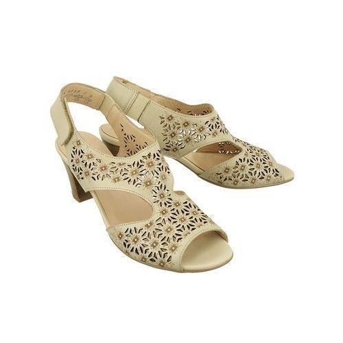 9j65-2 piera sabia, sandały damskie - beżowy marki Alpina