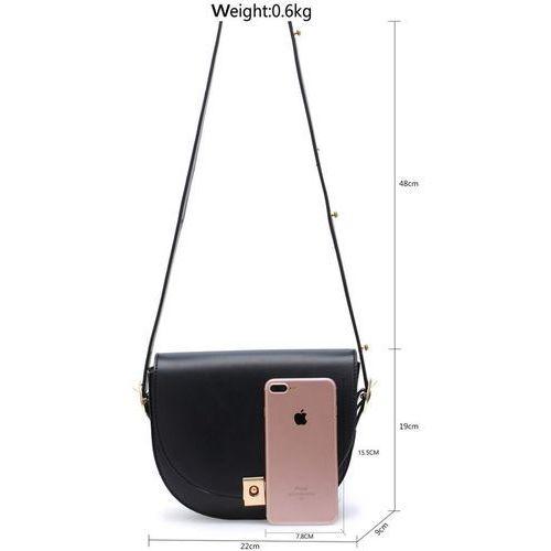 Szykowna klasyczna torebka damska z nadrukiem czarny || brązowy || biały