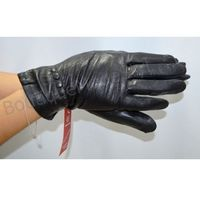 Rękawiczki damskie z eko skóry