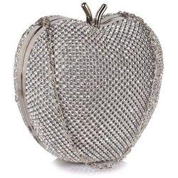 Zjawiskowa torebka wizytowa w kształcie jabłuszka srebrna - srebrny marki Wielka brytania