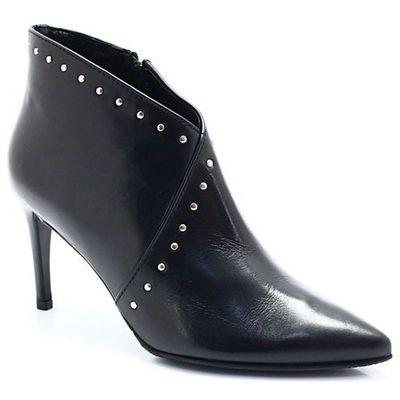 6f4453e8725f00 SOLO FEMME 75482 CZARNE - Botki na szpilce, kolor czarny Tymoteo - sklep  obuwniczy