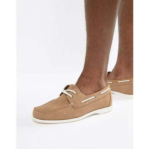 788d55871c309 New Look Faux Suede Boat Shoes In Tan - Tan - foto New Look Faux Suede