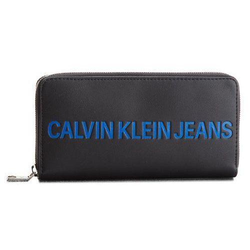 a8a6453a19206 Calvin Klein Jeans Calvin klein jeans Duży portfel damski - sculpted zip  around k40k400408 001