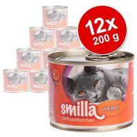 Smilla Korzystny pakiet puszki z drobiem, 12 x 200 g - delikatny drób z rybą