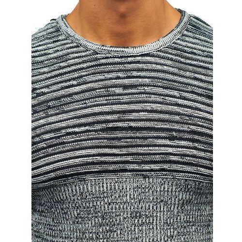13b7ca4dcce4 Sweter męski czarno-biały Denley 156 - Galeria Sweter męski czarno-biały  Denley 156 ...