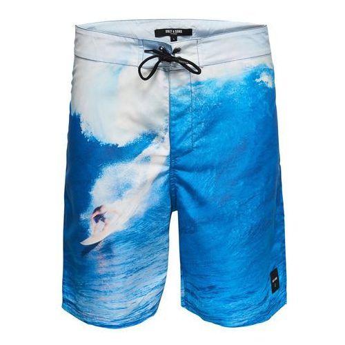 Only & Sons Szorty kąpielowe niebieski / biały, w 5 rozmiarach