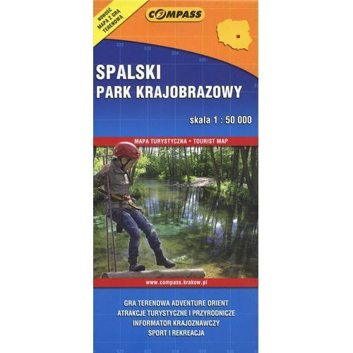 Spalski Park Krajobrazowy mapa turystyczna, oprawa broszurowa