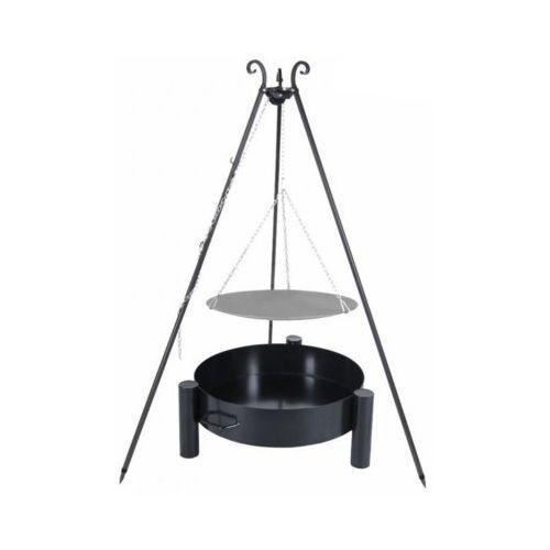 Patelnia ogniskowa VIKING na trójnogu 56 cm + Palenisko 60 cm (5902280593010)