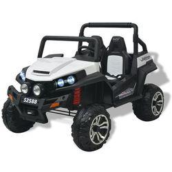 elektryczny samochód dla dzieci xxl, 2-osobowy, biało-czarny marki Vidaxl