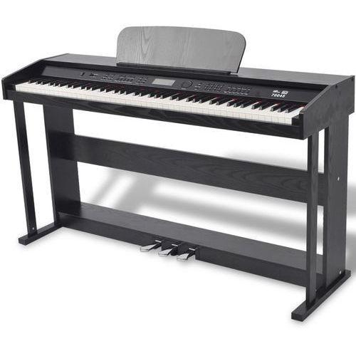pianino cyfrowe z 88 klawiszami i pedałami, płyta melaminowa marki Vidaxl