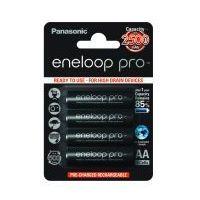 Panasonic 4 x akumulatorki eneloop pro r6 aa 2550mah bk-3hcde/4be (blister)