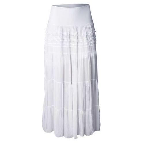 Długa spódnica biały Bonprix