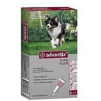 Advantix Spot-On dla psa 10-25kg - roztwór przeciwko pchłom i kleszczom - 4 pipety w opakowaniu, 7298 (1915762)