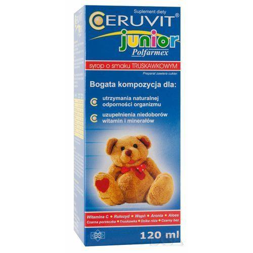 Syrop Ceruvit Junior sm.truskawkowy syrop - 120 ml