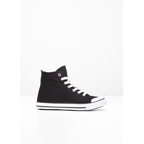 Wysokie sneakersy bonprix czarny, kolor czarny