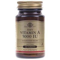 Tabletki Solgar Witamina A 5000 IU - 100 tabletek