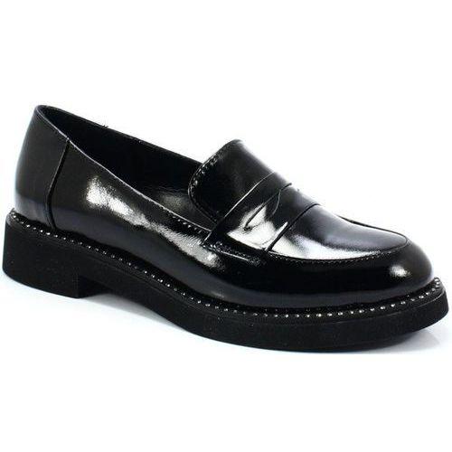 039510919k czarne - klasyczne mokasyny marki Venezia