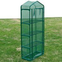 Vidaxl  szklarnia ogrodowa, cztery półki (8718475837541)