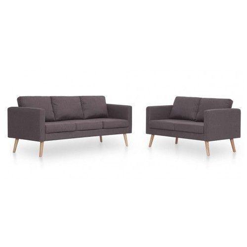 Komplet 2 sof wypoczynkowych Bailey - Taupe