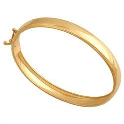 Rodium Złota bransoleta damska