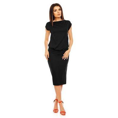 4c4799bae8 Czarna Letnia Midi Sukienka bez Rękawów