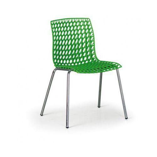 Krzesło Plastikowe Perfo Zielone Kolor Zielony B2b Partner