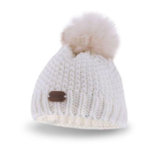 Zimowa czapka dziewczęca PaMaMi - Ecru - Ecru, kolor beżowy