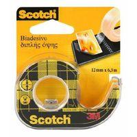 Taśma klejąca  dwustronnie klejąca, przezroczysta, na podajniku, 12 mm x 6,3 m - x04286 marki Scotch
