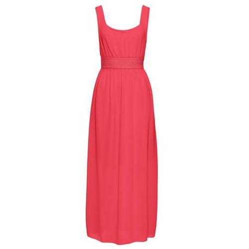Długa sukienka bonprix czerwony, kolor czerwony