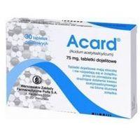 Tabletki Acard - 30 tabletek 75mg
