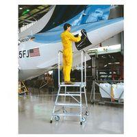 B2b partner Mobilna aluminiowa drabina platformowa ze schodkami - 3 stopnie, 0,7 m