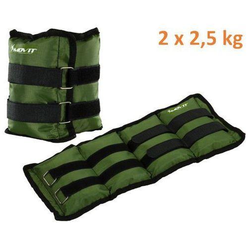 Obciążniki MOVIT na ręce i nogi do ćwiczeń 2 x 2,5 kg zielone