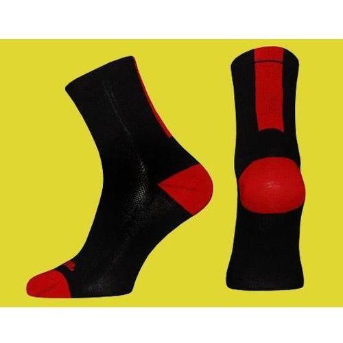 duża obniżka rozmiar 7 najlepiej autentyczne Wyprzedaż skarpetki stripe czarno-czerwone s (36-38) (Accent)