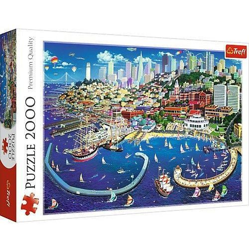 Puzzle 2000 zatoka san francisco marki Trefl