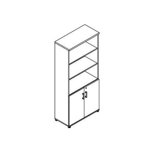 Echo Regał częściowo zamknięty ec54 wymiary: 80,2x38,5x183,3 cm