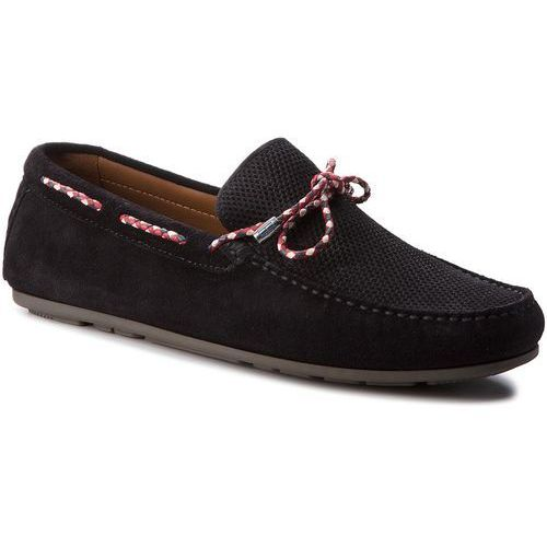 3c592b165fa65 Mokasyny TOMMY HILFIGER - Interlace Suede Loafer FM0FM01433 Midnight 403
