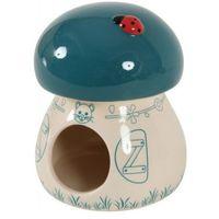 Zolux domek ceramiczny grzybek niebieski- rób zakupy i zbieraj punkty payback - darmowa wysyłka od 99 zł