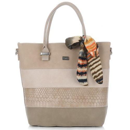 726d4e2b8acf3 David jones torebki damskie kuferki z wysokiej jakości skóry ekologicznej  ziemiste