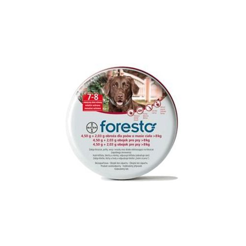 BAYER Foresto - Obroża przeciw pchłom i kleszczom dla dużych psów (dł. 70cm)